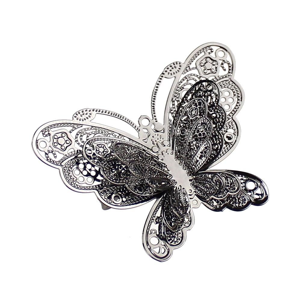 broche mariposa metal