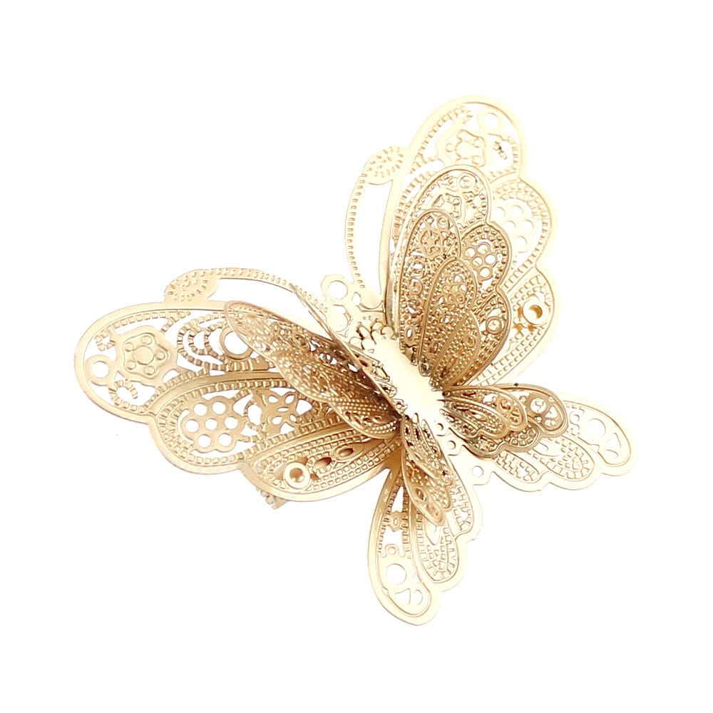 broche mariposa metal oro