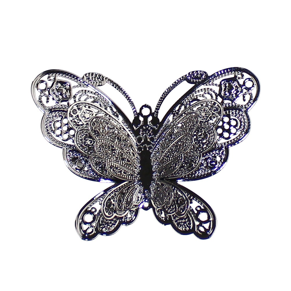 broche mariposa metal pavonado