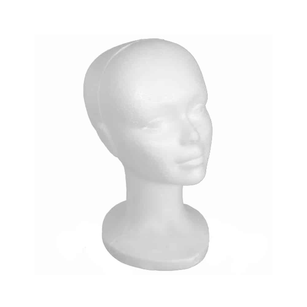 cabezas de porexpan blanca
