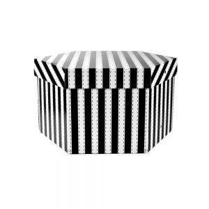 caja 35 cm rayas negro