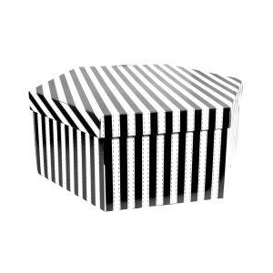 caja rayas 50x50x23 cm