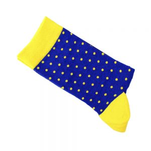 calcetines de lunares azul klein