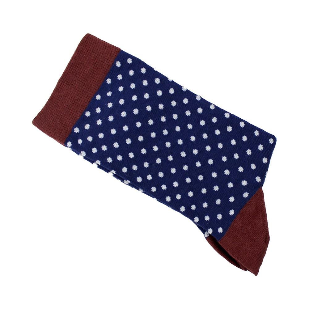 calcetines de lunares azul marino