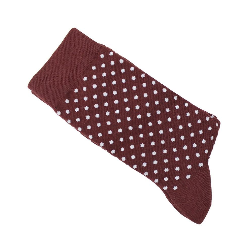 calcetines de lunares granate