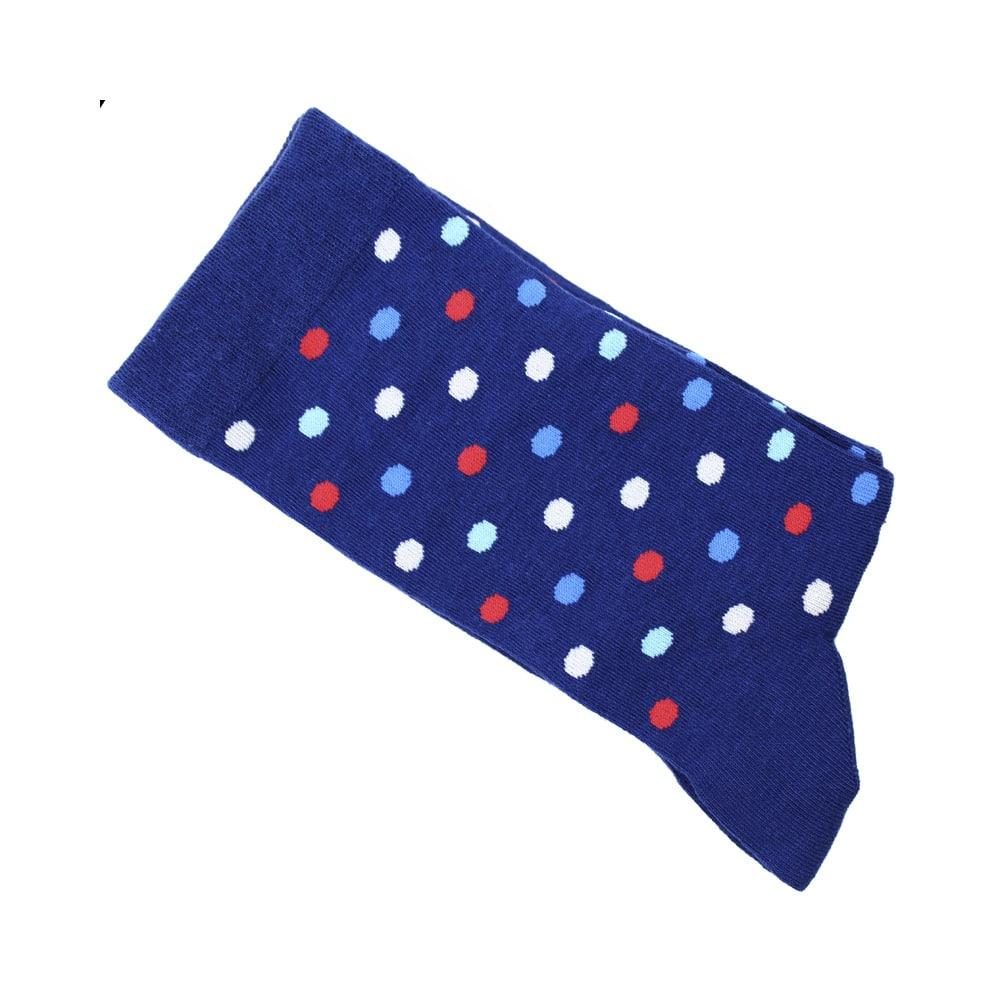 calcetines lunares grandes azul klein