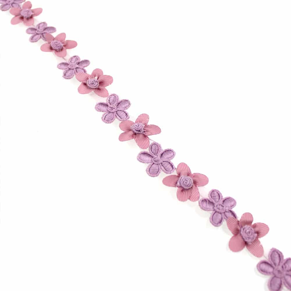 cinta de flores con bordados 2 5 cm rosa nude