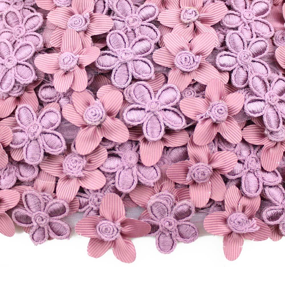 cinta de flores con bordados 2 5 cm