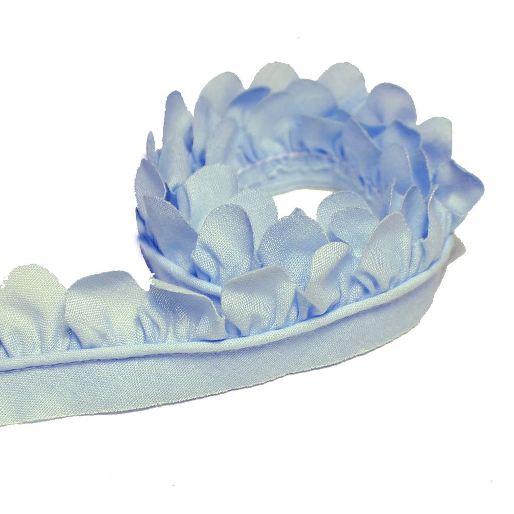 cinta de petálos pol alg 3 cm celeste claro