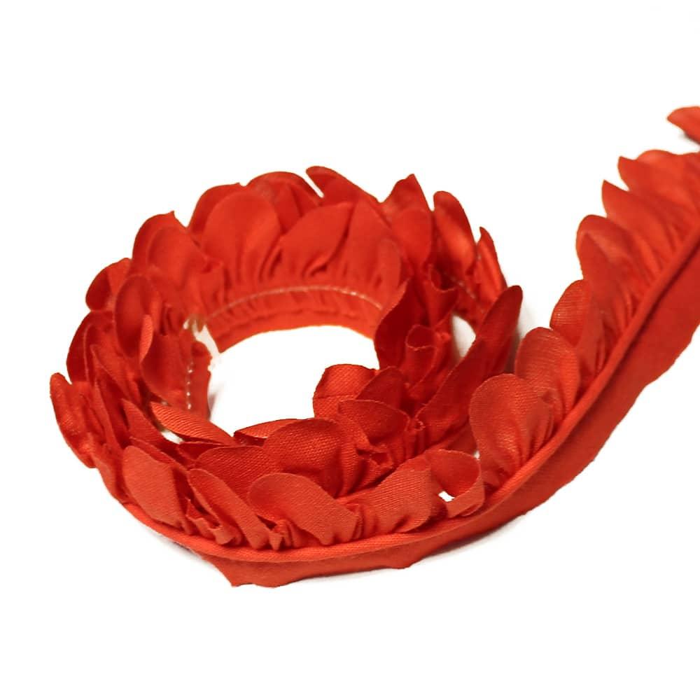 cinta de petálos pol alg 3 cm cm coral