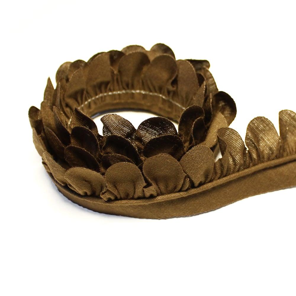 cinta de petálos pol alg 3 cm marron