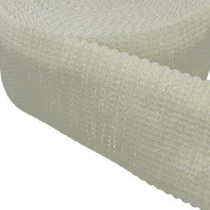 cinta elastica elegant blanco y oro