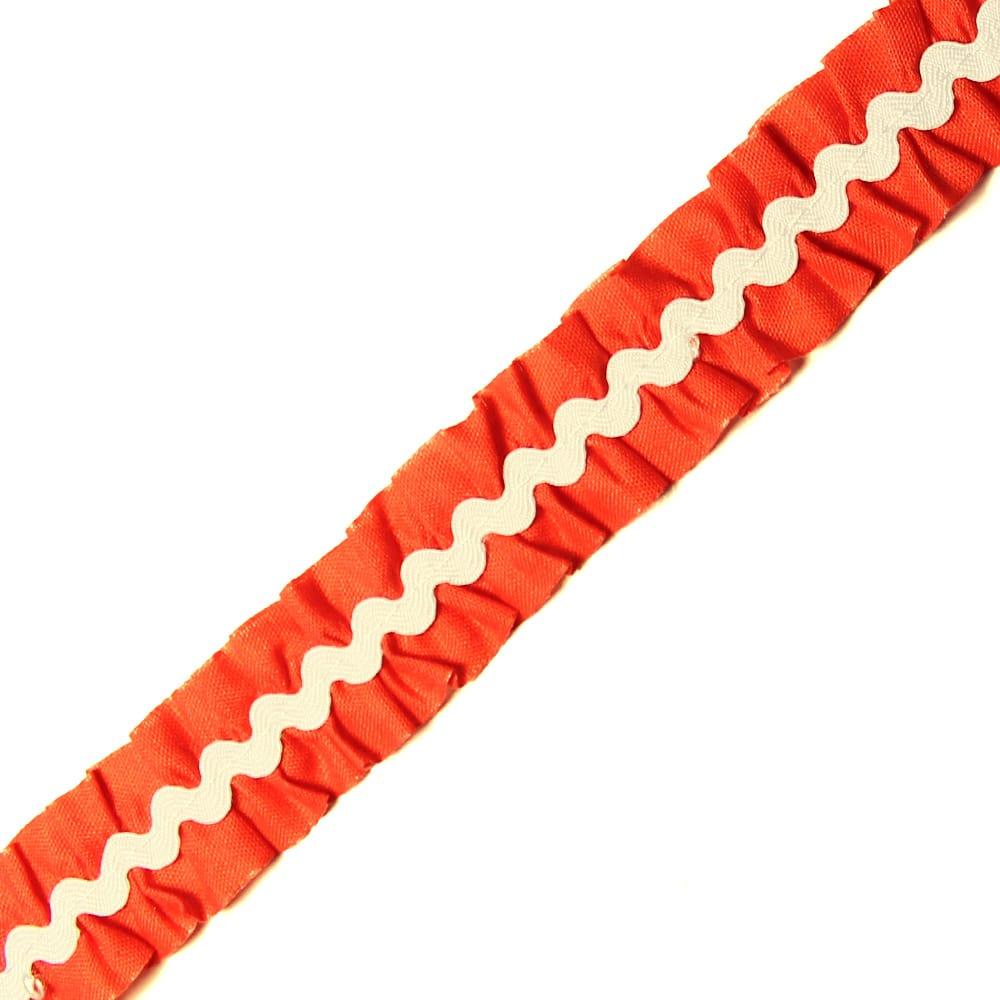 cinta fruncida ondulinas 2 cm rojo