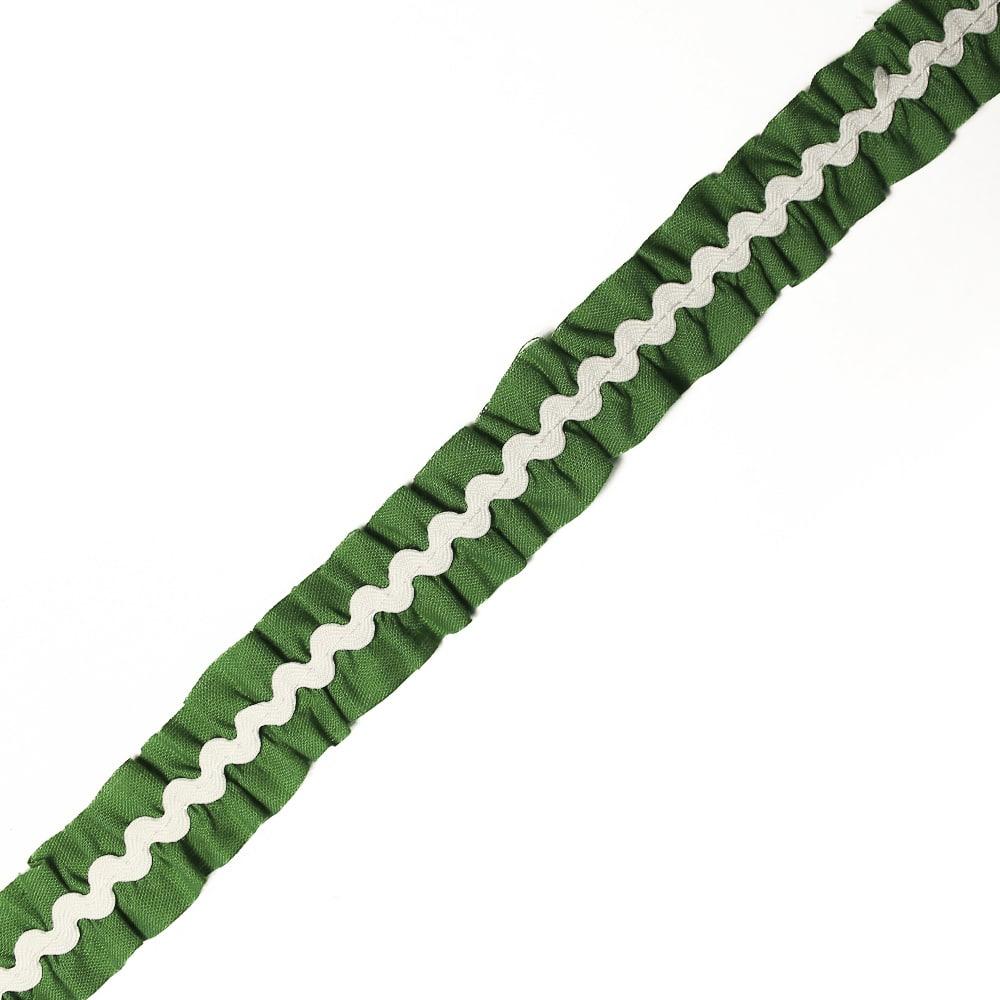 cinta fruncida ondulinas 2 cm verde andalucia