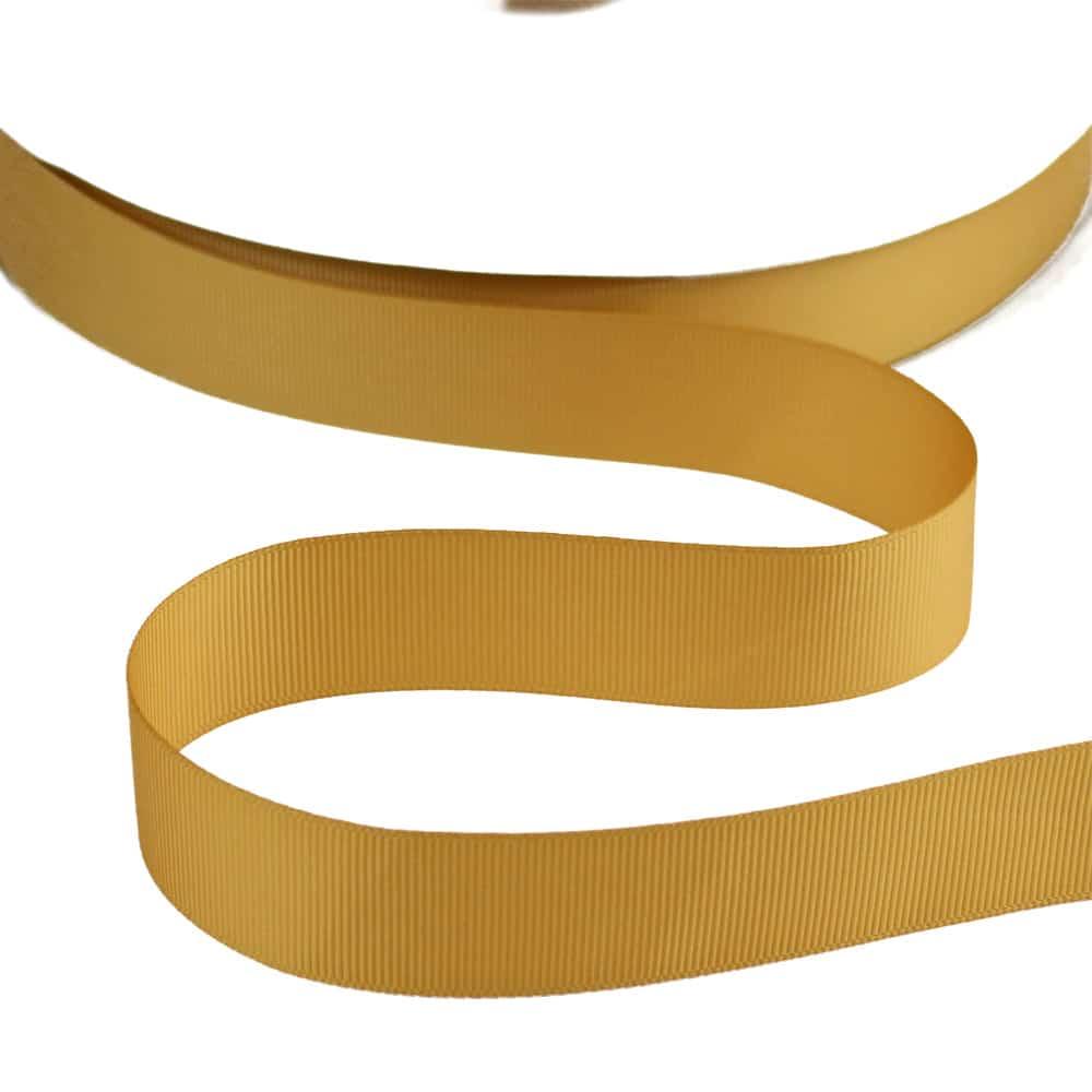 cinta grosgrain 25 mm dorado