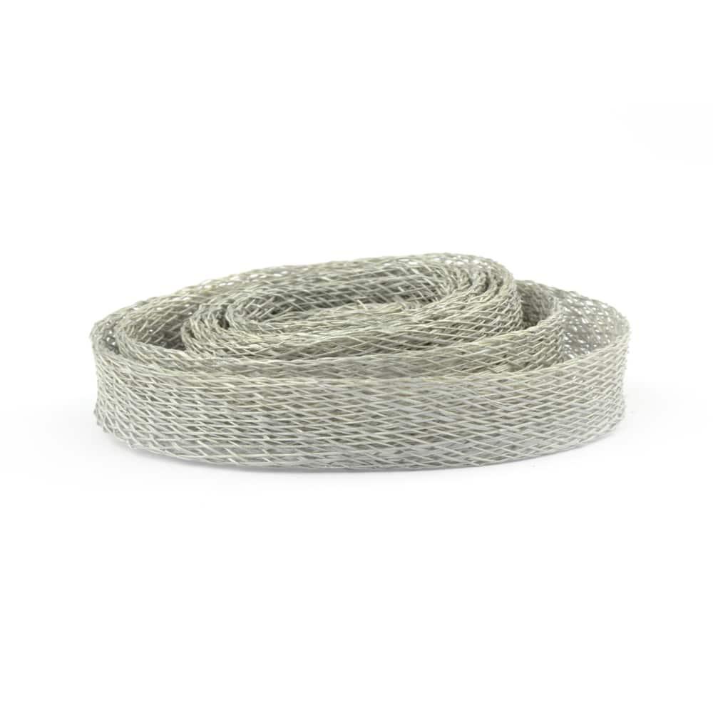 cinta sinamay 1 cm gris plata