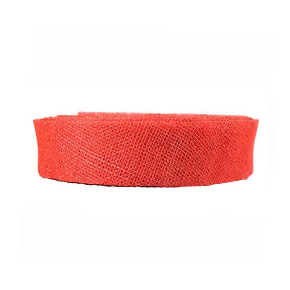 cinta sinamay 3 cm rojo