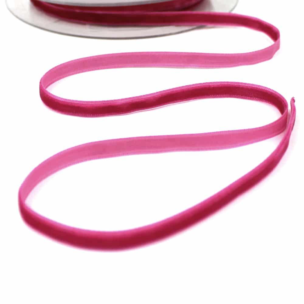 cinta terciopelo 7 mm fucsia