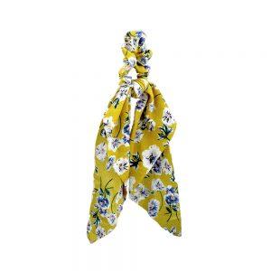 coletero pañuelo estampado amarillo