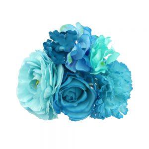conjunto floral elda tonos azules