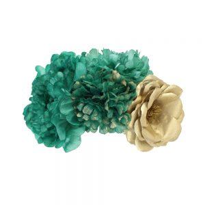conjunto floral lola verde agua