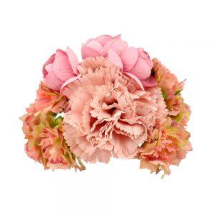 conjunto floral marzo rosa nude