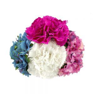 conjunto floral mayo blanco y buganvilla