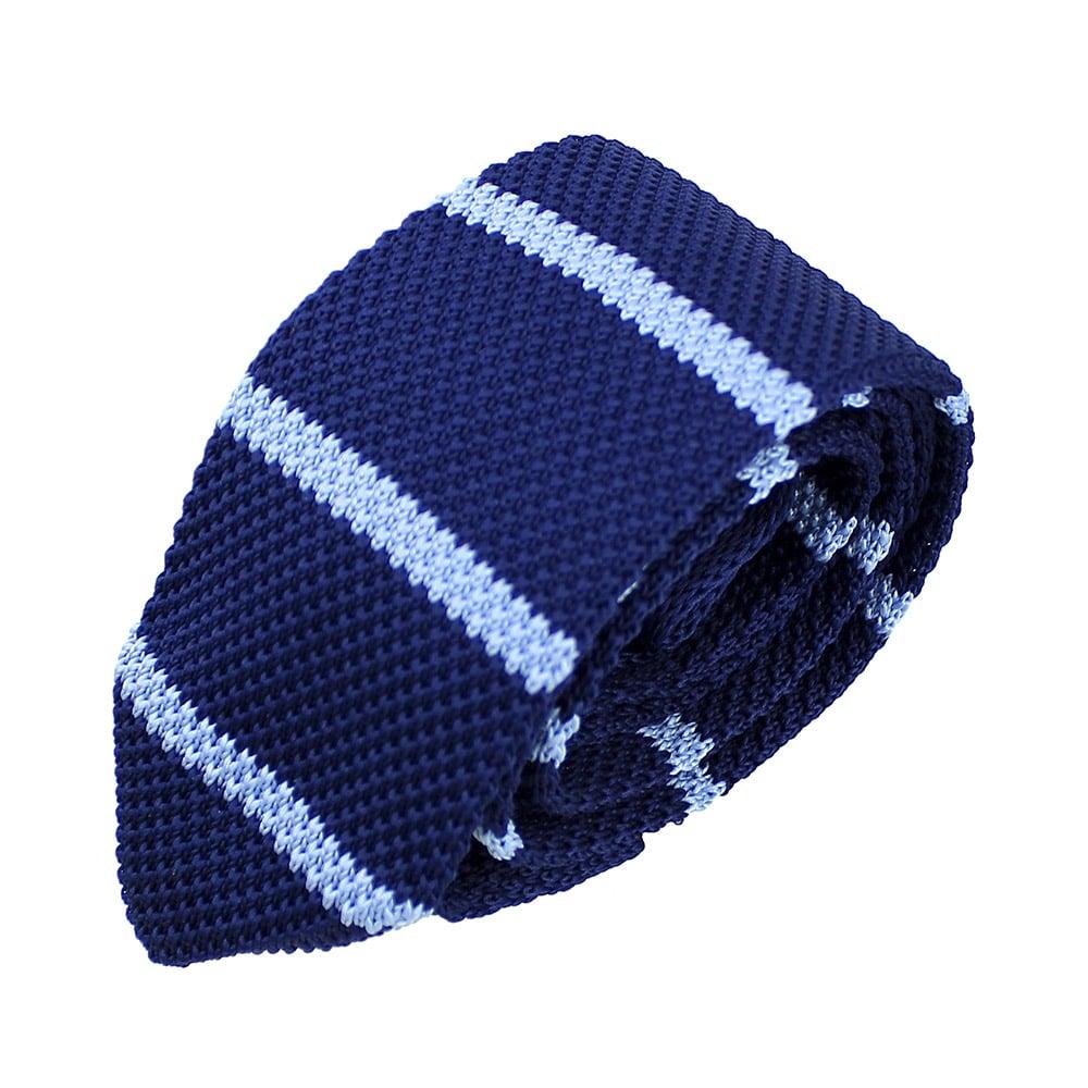 corbata adam croche rayas celeste claro