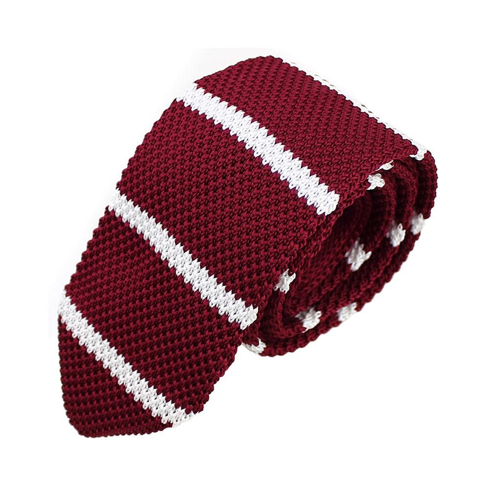 corbata adam croche rayas granate