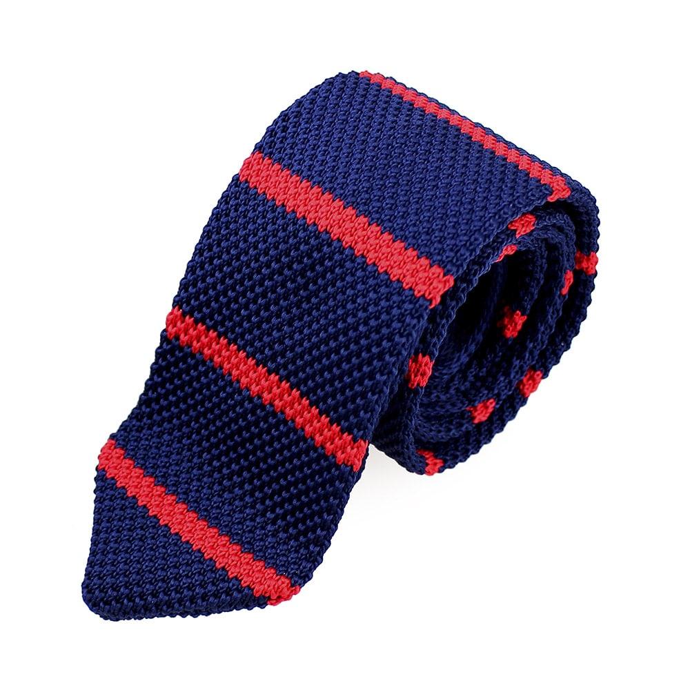 corbata adam croche rayas rojo