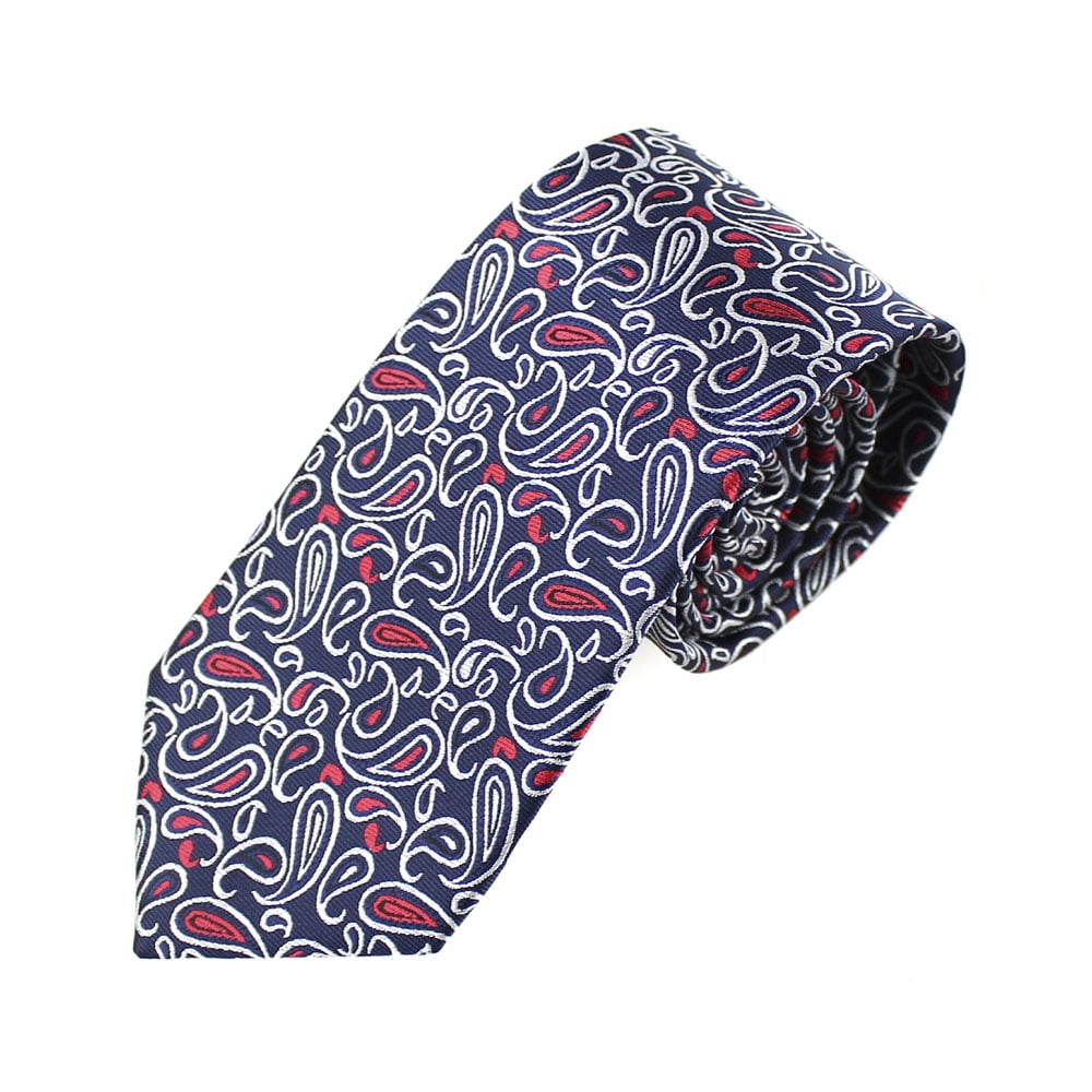 corbata albert paisley azul marino