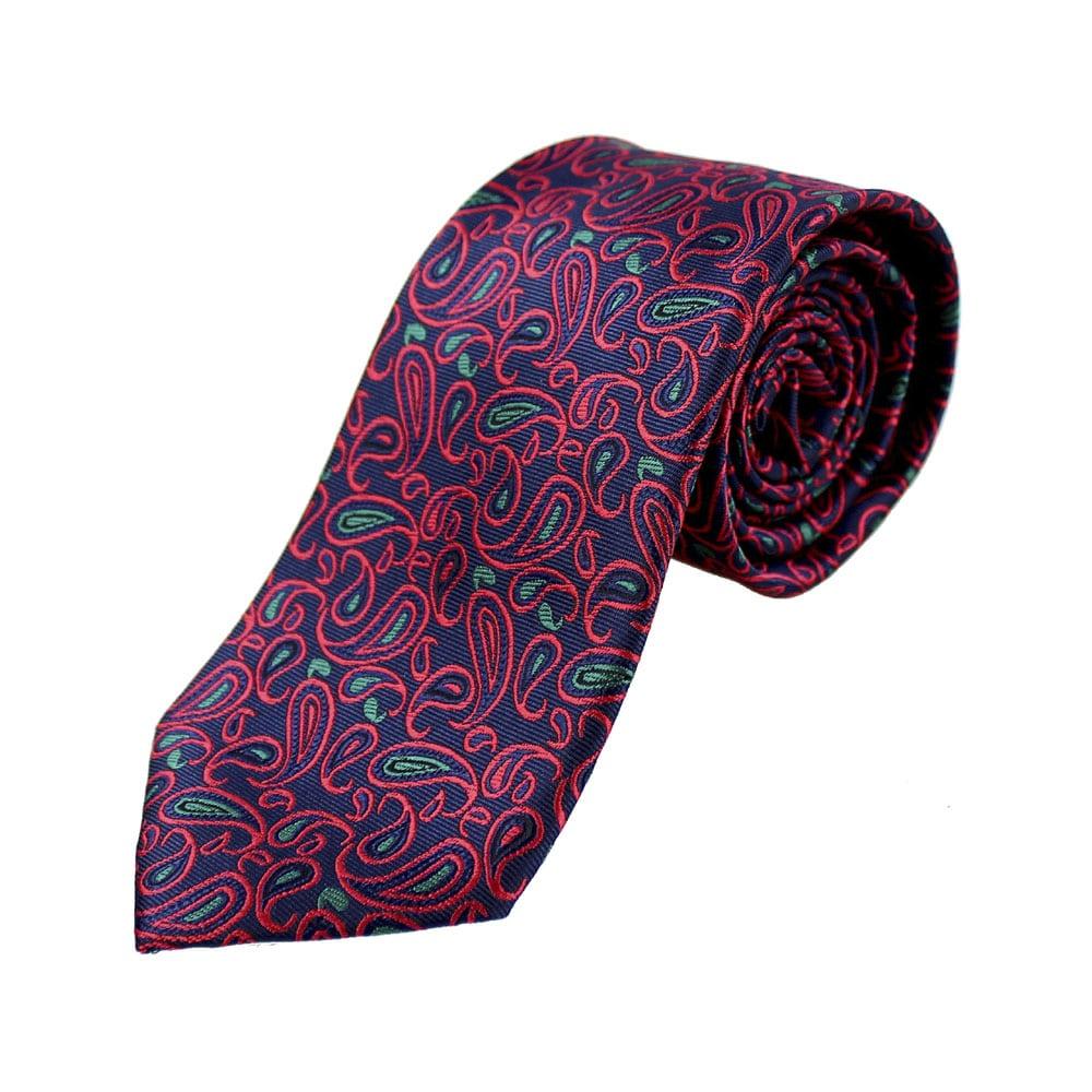 corbata albert paisley rojo