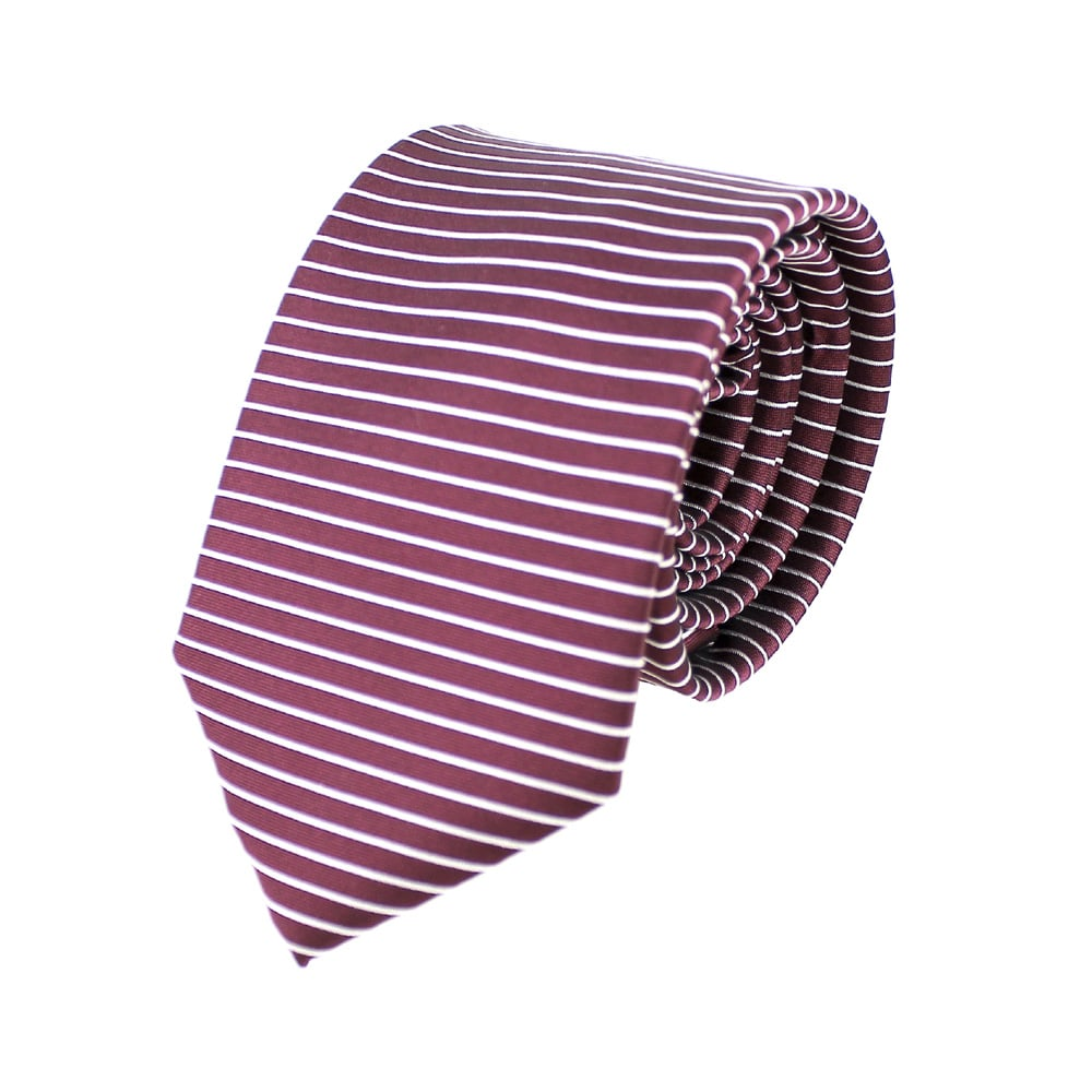 corbata alejo lineas granate