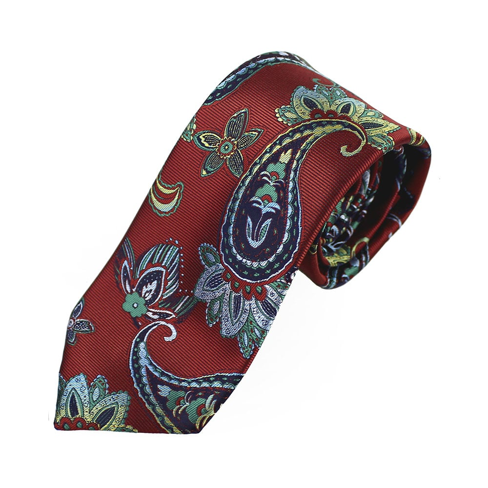 corbata alexander paisley granate 2
