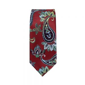 corbata alexander paisley granate