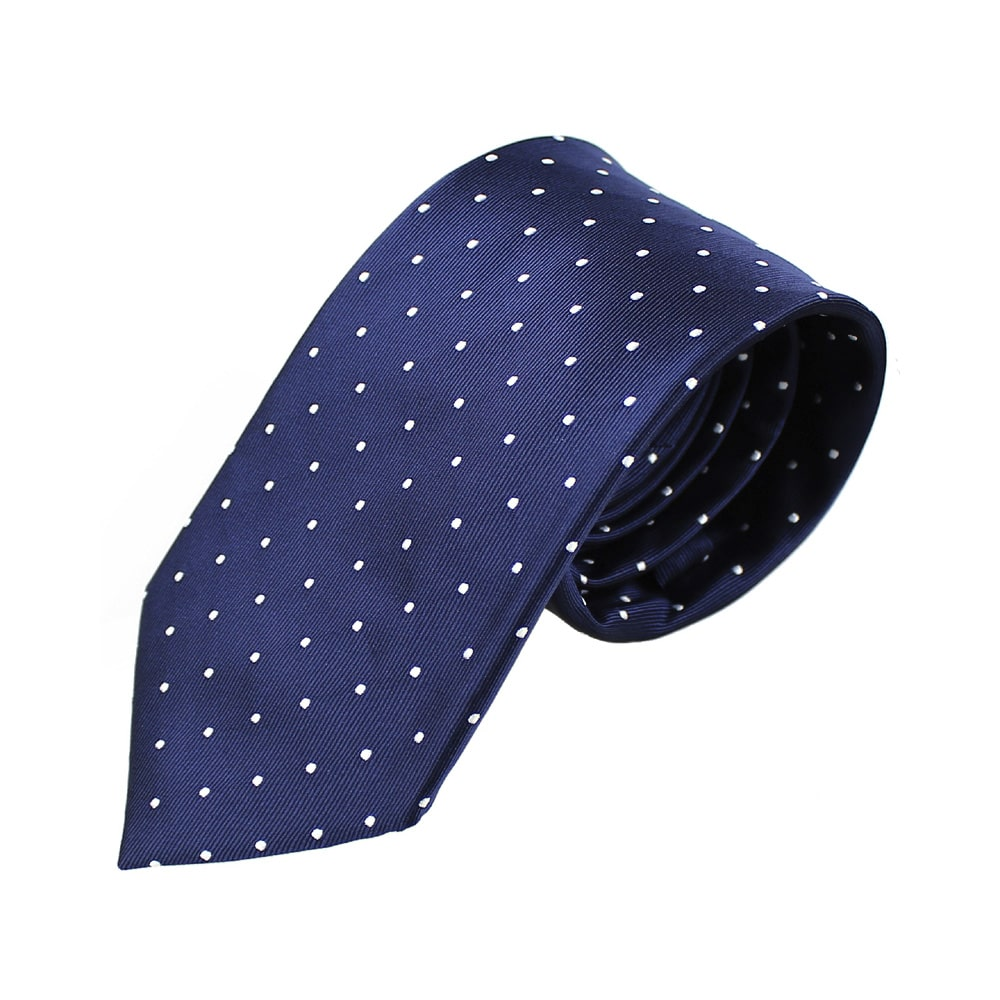 corbata armando lunares azul marino