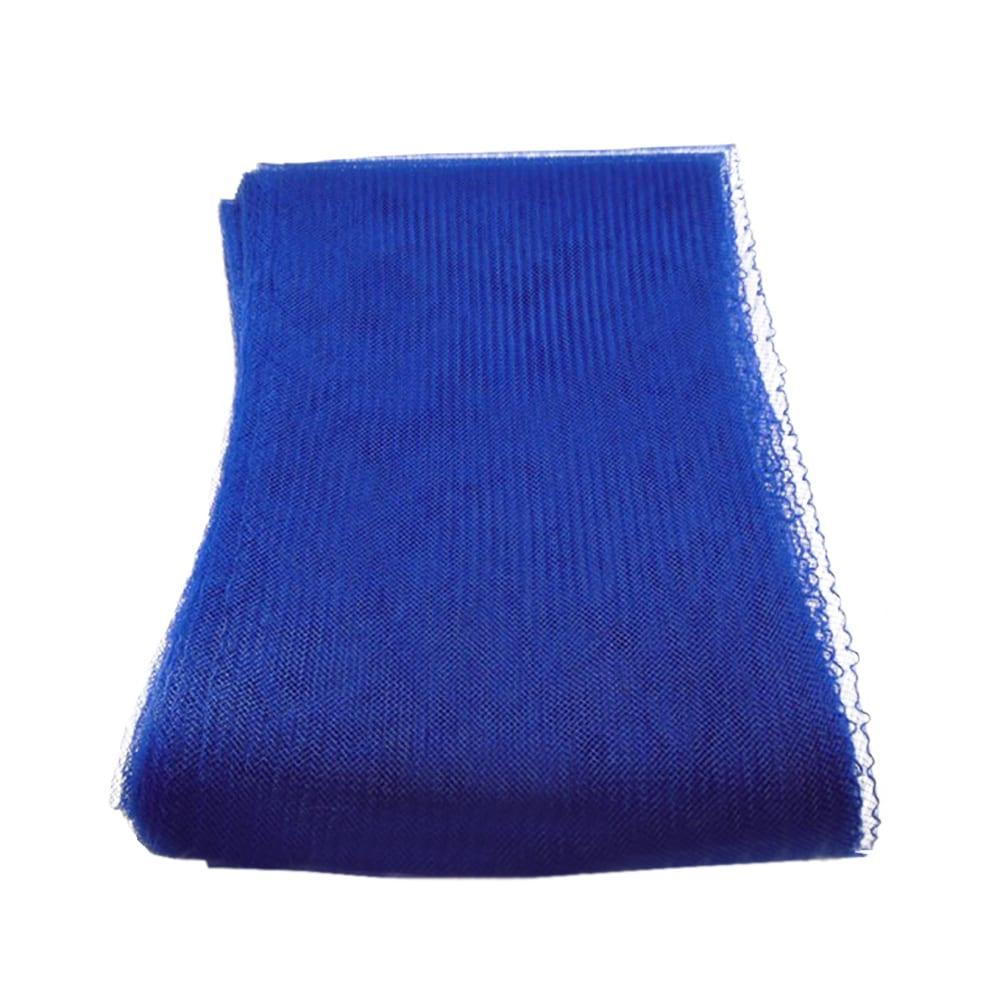 crin liso con hilo 15 cm azul medio