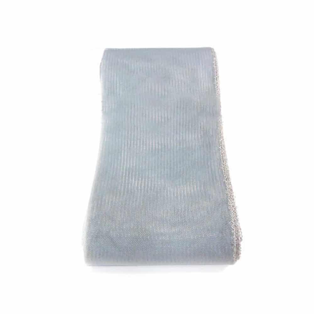crin liso con hilo 15 cm gris plata