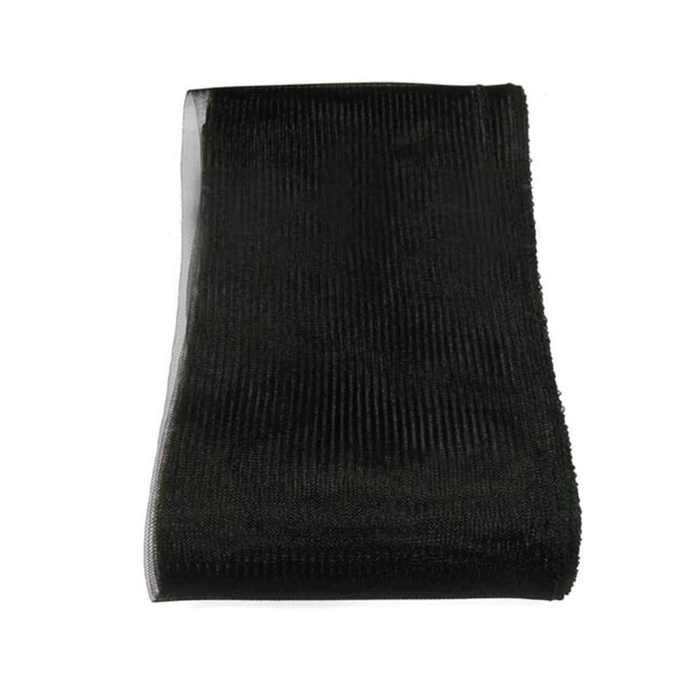 crin liso con hilo 15 cm negro