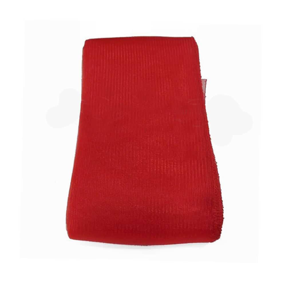 crin liso con hilo 15 cm rojo