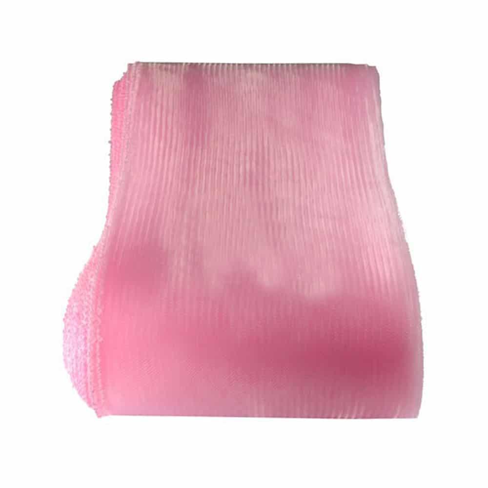 crin liso con hilo 15 cm rosa