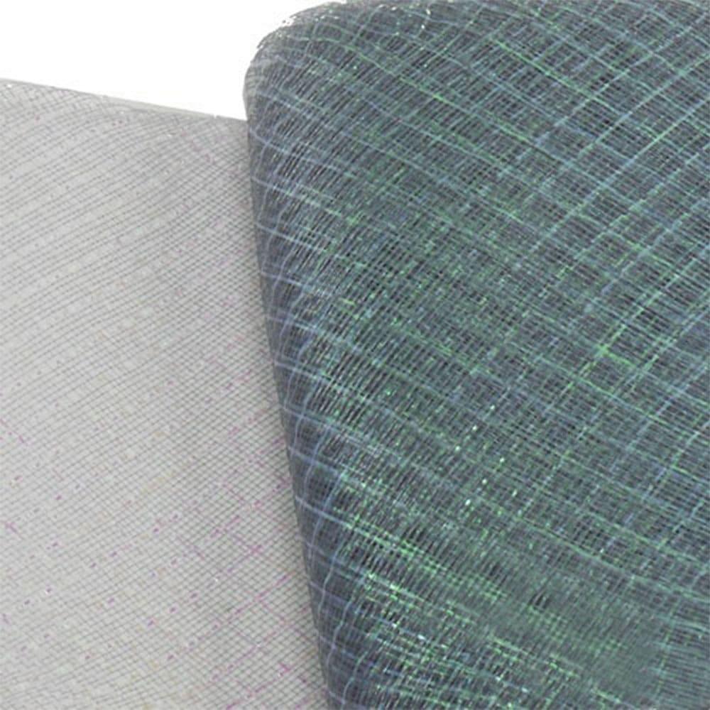 crin rombo metalizado 16 cm gris plata