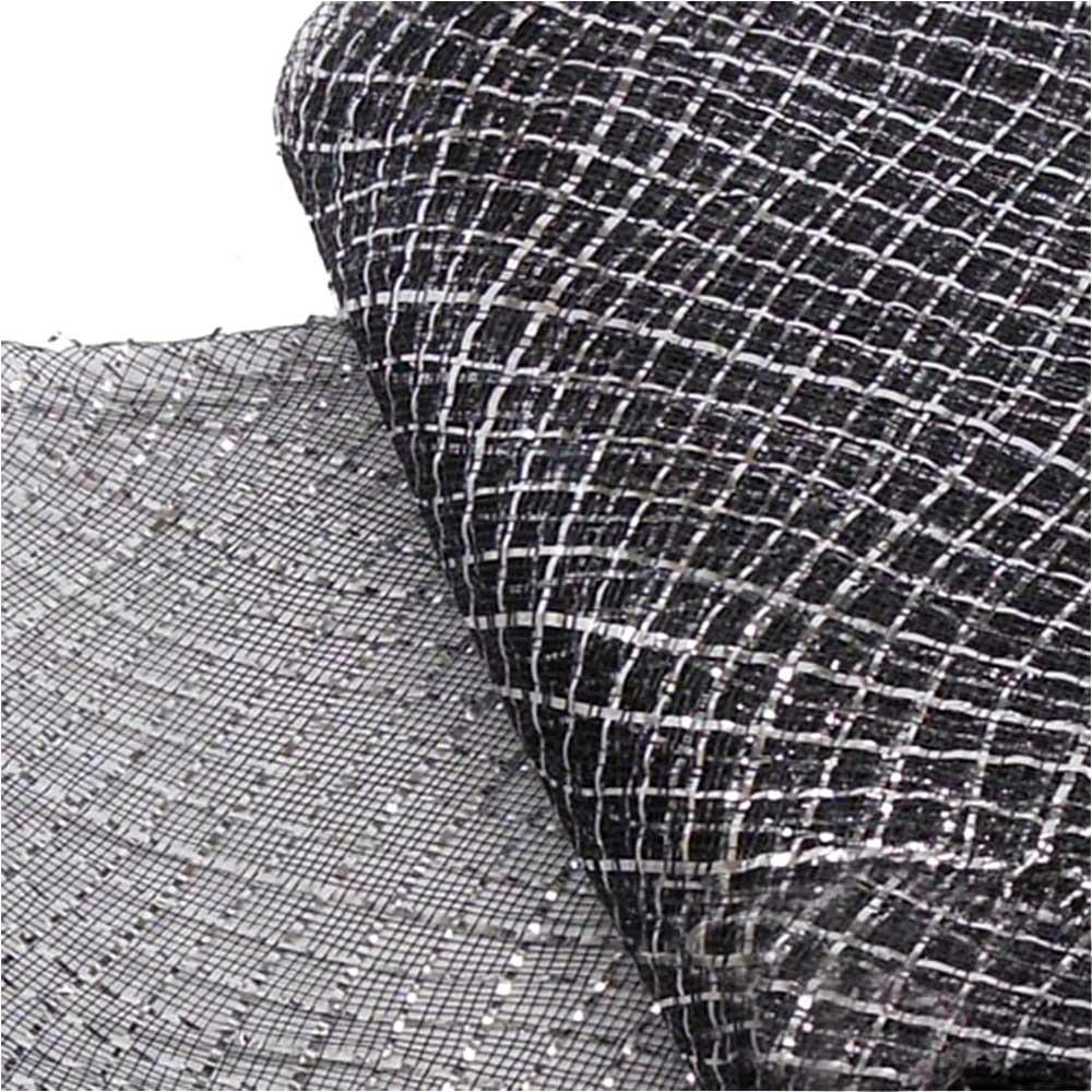 crin rombo metalizado 16 cm negro