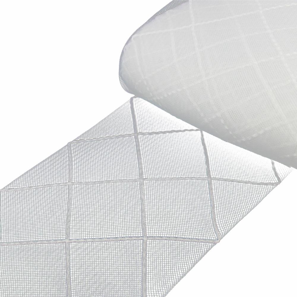 crin rombos 15 cm blanco