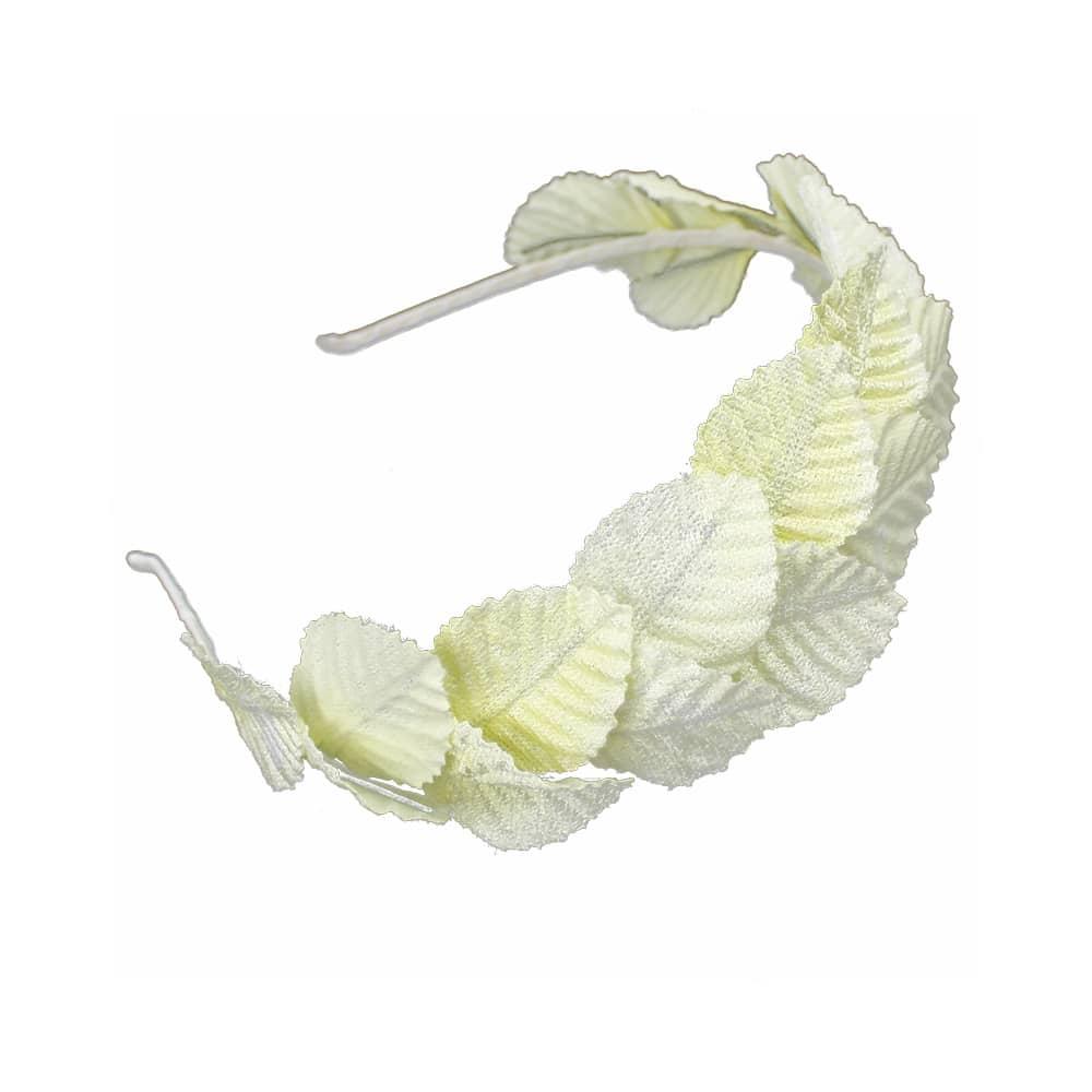 diadema hojas de terciopelo crudo