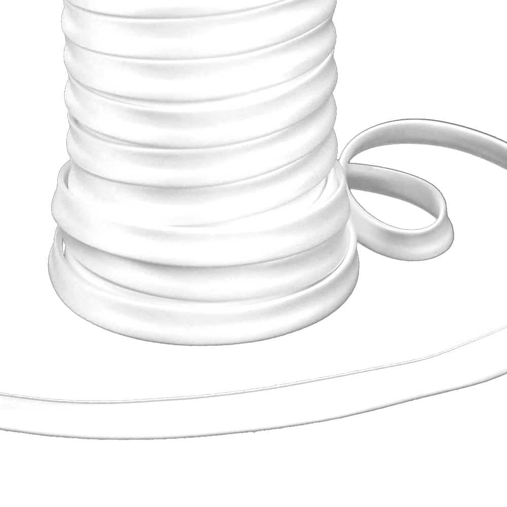 espagueti raso 10 mm blanco
