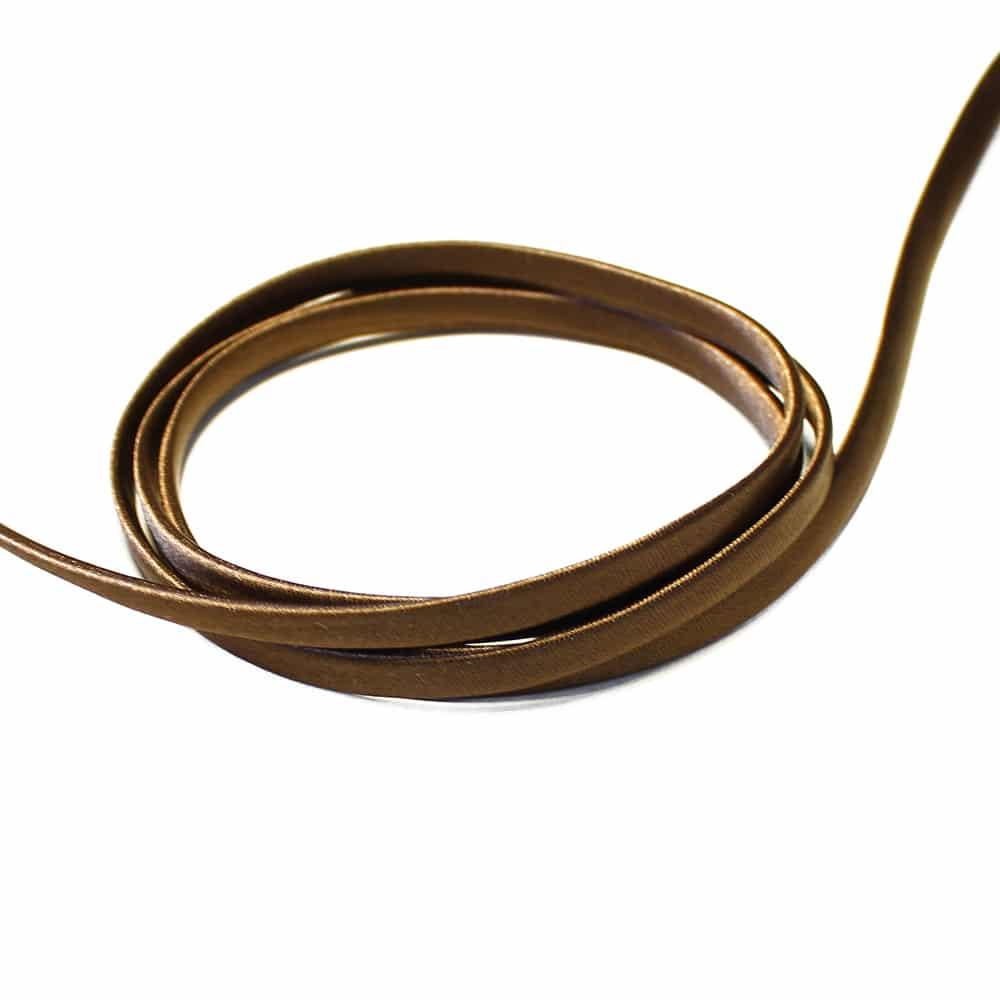 espagueti raso 7 mm marron oscuro