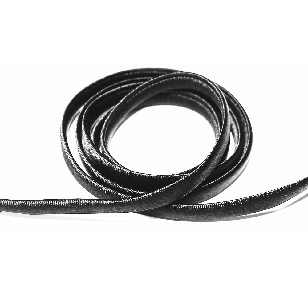 espagueti raso 7 mm negro