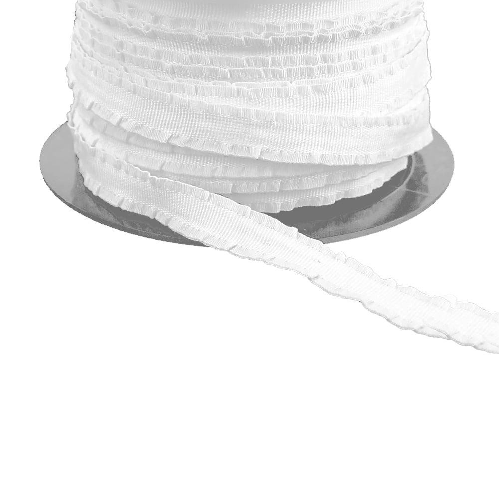 espagueti ribet fruncido blanco