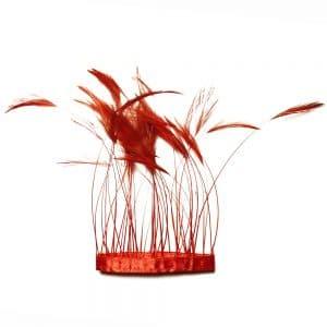 fleco antena gallo 12 cm rojo